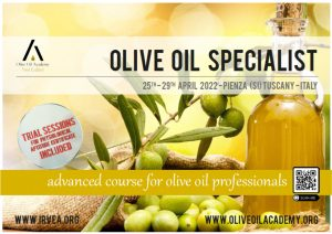 """Front page brochure new course """"Olive Oil Specialist"""""""